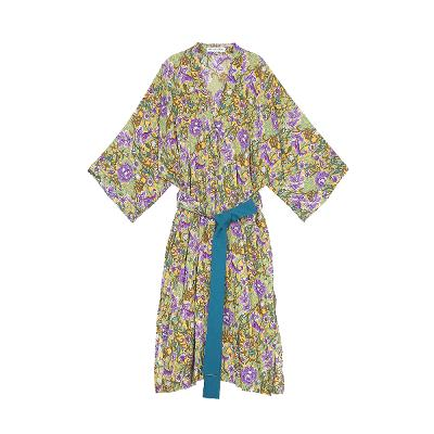 flower pattern maxi robe1